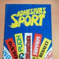 Coleccionismo deportivo: ALBUM ADHESIVAS SPORT EDITORIAL SIRVENSAE, AÑO 1984 BUEN ESTADO.. Lote 140895162