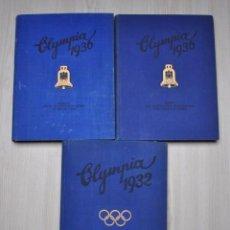 Coleccionismo deportivo: 3 ÁLBUMES JUEGOS OLÍMPICOS 1932 Y 1936. Lote 143245674