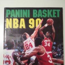 Coleccionismo deportivo: NBA 90 ALBUM DE CROMOS DE PANINI CON 124 CROMOS PEGADOS, EN MUY BUEN ESTADO!CON 2 CROMOS DE JORDAN. Lote 222391077