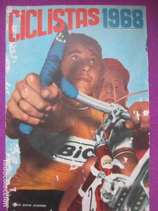 ALBUM CROMOS, CICLISTAS 1968, ED. LAIDA, TIENE 36 CROMOS PEGADOS Y 8 SUELTOS (Coleccionismo Deportivo - Álbumes otros Deportes)