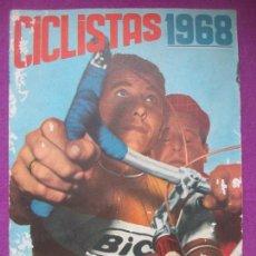 Coleccionismo deportivo: ALBUM CROMOS, CICLISTAS 1968, ED. LAIDA, TIENE 36 CROMOS PEGADOS Y 8 SUELTOS. Lote 144111134