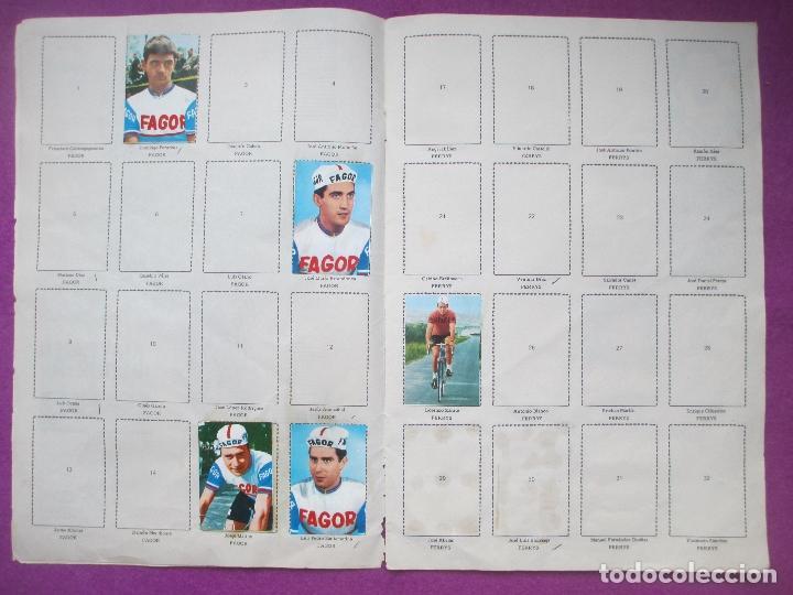 Coleccionismo deportivo: ALBUM CROMOS, CICLISTAS 1968, ED. LAIDA, TIENE 36 CROMOS PEGADOS Y 8 SUELTOS - Foto 3 - 144111134