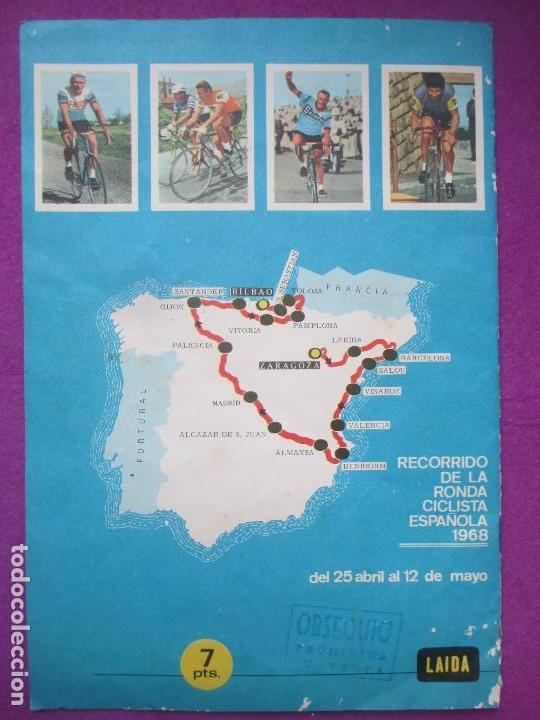 Coleccionismo deportivo: ALBUM CROMOS, CICLISTAS 1968, ED. LAIDA, TIENE 36 CROMOS PEGADOS Y 8 SUELTOS - Foto 9 - 144111134