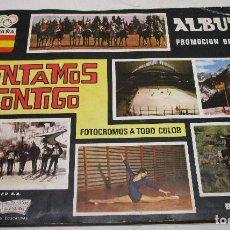 Coleccionismo deportivo: ÁLBUM CROMOS CONTAMOS CONTIGO, COMPLETO, COLED S.A. 1968. Lote 146452158