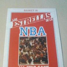 Coleccionismo deportivo: ALBUM CROMOS LAS ESTRELLAS DE LA NBA ALL STAR GAME CHICAGO 88 - BASKET 16. Lote 147676338