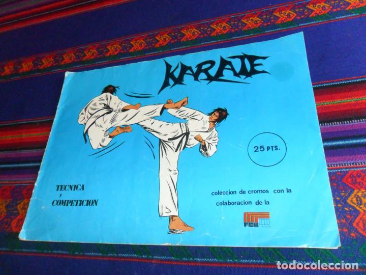 KARATE TÉCNICA Y COMPETICIÓN COMPLETO 158 CROMOS. EDICIONES ARA 1980. BUEN ESTADO Y RARO. (Coleccionismo Deportivo - Álbumes otros Deportes)