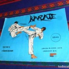 Coleccionismo deportivo: KARATE TÉCNICA Y COMPETICIÓN COMPLETO 158 CROMOS. EDICIONES ARA 1980. BUEN ESTADO Y RARO.. Lote 148771794