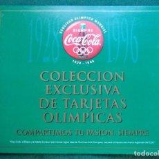 Collezionismo sportivo: COLECCIÓN EXCLUSIVA DE TARGETAS OLIMPICAS COCACOLA COMPLETO. Lote 148887986