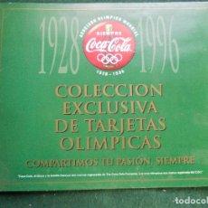 Coleccionismo deportivo: COLECCION EXCLUSIVA DE TARJETAS OLIMPICAS COCACOLA 1928-1996. Lote 149440470