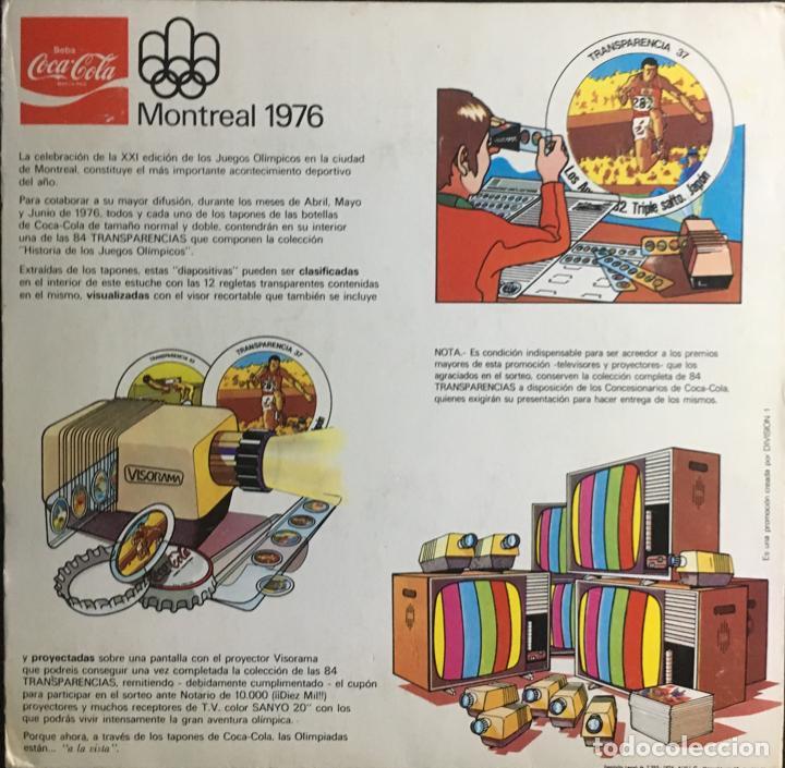 Coleccionismo deportivo: Album completo (84 transparencias) Coca Cola J.J.O.O. Montreal 1976 Historia de los Juegos Olímpicos - Foto 2 - 154788182