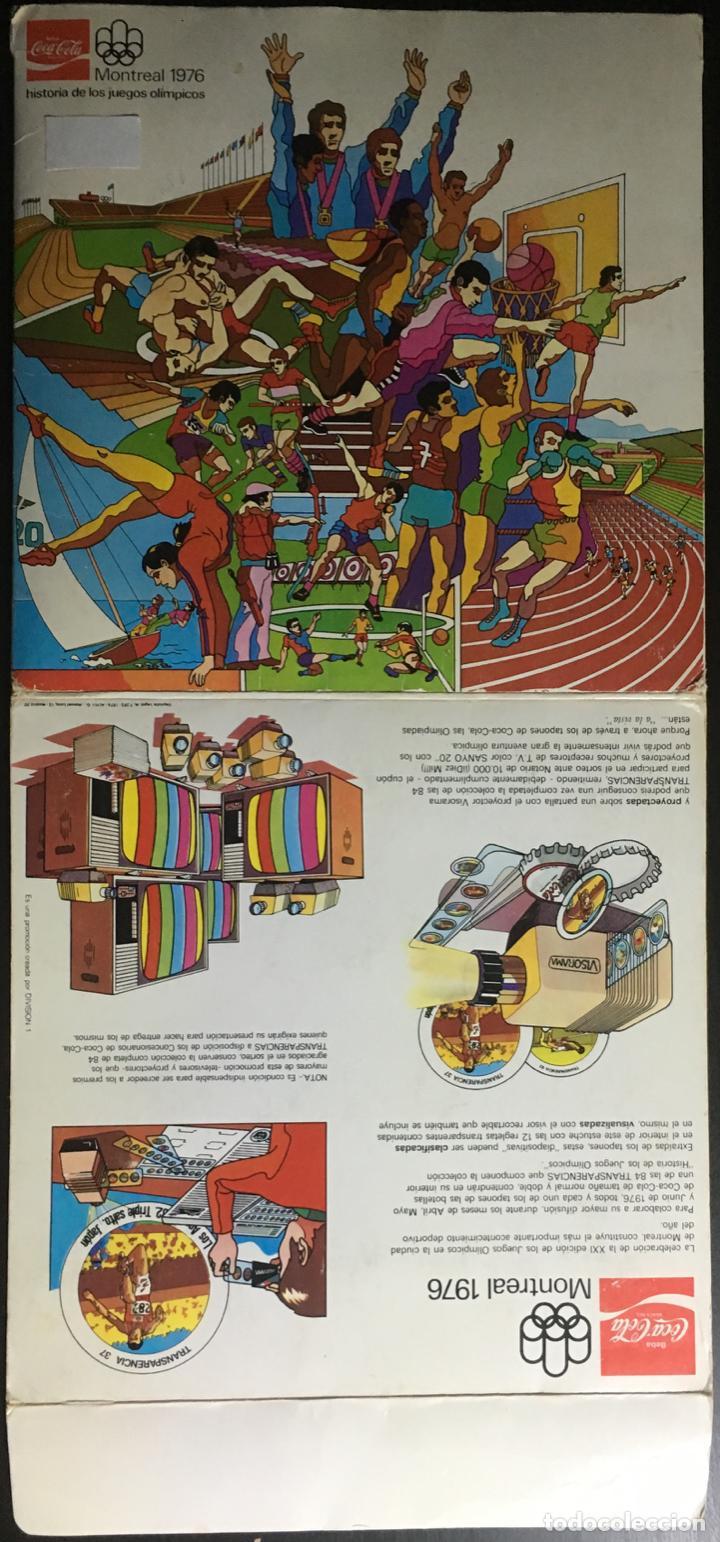 Coleccionismo deportivo: Album completo (84 transparencias) Coca Cola J.J.O.O. Montreal 1976 Historia de los Juegos Olímpicos - Foto 3 - 154788182