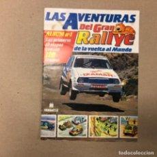 Coleccionismo deportivo: LAS AVENTURAS DEL GRAN RALLYE. ÁLBUM N°1 DE CROMOS VOMPLETO, EDITA MULTILIBRO EN 1988.. Lote 155107398