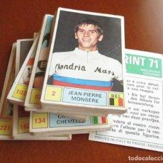 Coleccionismo deportivo: LOTE DE 90 CROMOS ALBUM PANINI SPRINT 71 CROMO CICLISMO. Lote 155796430