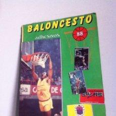 Coleccionismo deportivo: ALBUM BALONCESTO. 88. CON 93 CROMOS (PEGADOS). Lote 156680004