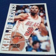Coleccionismo deportivo: CROMO PANINI NBA BASKETBALL 95 - 96 ( KHALID REEVES ) Nº 16 MIAMI HEAT NUEVO NUNCA PEGADO. Lote 156768062