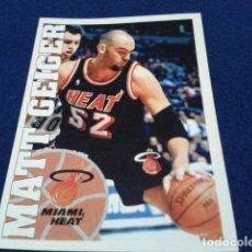 Coleccionismo deportivo: CROMO PANINI NBA BASKETBALL 95 - 96 ( MATT GEIGER ) Nº 13 MIAMI HEAT NUEVO NUNCA PEGADO. Lote 156768138