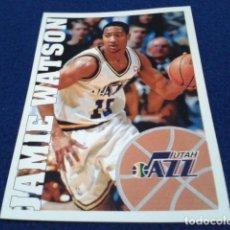 Coleccionismo deportivo: CROMO PANINI NBA BASKETBALL 95 - 96 ( JAMIE WATSON ) Nº 198 UTAH JAZZ NUEVO NUNCA PEGADO. Lote 156768758