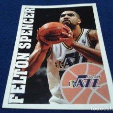 Coleccionismo deportivo: CROMO PANINI NBA BASKETBALL 95 - 96 ( FELTON SPENCER ) Nº 196 UTAH JAZZ NUEVO NUNCA PEGADO. Lote 156768858
