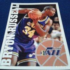 Coleccionismo deportivo: CROMO PANINI NBA BASKETBALL 95 - 96 ( BRYON RUSSELL ) Nº 194 UTAH JAZZ NUEVO NUNCA PEGADO. Lote 156768946