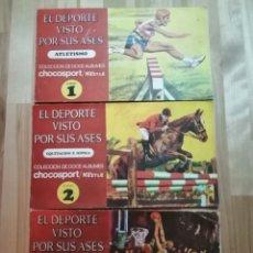 Coleccionismo deportivo: 9 ALBUMES COMPLETOS EL DEPORTE VISTO POR SUS ASES NS 1,2,3,4,5,7,10,11,12. Lote 156902602