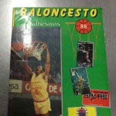 Coleccionismo deportivo: ÁLBUM DE BALONCESTO TEMPORADA 1987-88.EDITORIAL MERCHANTE.. Lote 157168738