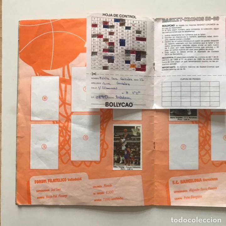 Coleccionismo deportivo: 1989 Álbum de cromos de baloncesto. Contiene 40 de 149 cromos. Basket ACB. Bollycao 23x31 cm - Foto 3 - 159378086
