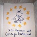Coleccionismo deportivo: EDICIÓN ESPECIAL, CARPETA COBI, 1989 REUNION CONSEJO EUROPEO DISEÑADO POR MARISCAL. Lote 159776062