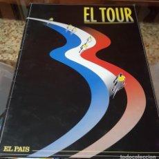 Collezionismo sportivo: COLECCIÓN COMPLETA 17 LAMINAS Y FICHAS CICLISTAZOS - EL TOUR DE FRANCIA 1995 - CICLISMO EL PAIS. Lote 160087858