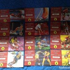 Coleccionismo deportivo: COMPLETOS COLECCION DE 12 ALBUMES SPORT NESTLE,EL DEPORTE VISTO POR SUS ASES. Lote 161790174