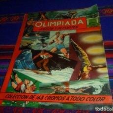 Coleccionismo deportivo: OLIMPIADA JUEGOS Y DEPORTES COMPLETO 168 CROMOS PEGADOS POR ARRIBA. RUIZ ROMERO 1957.. Lote 162851074