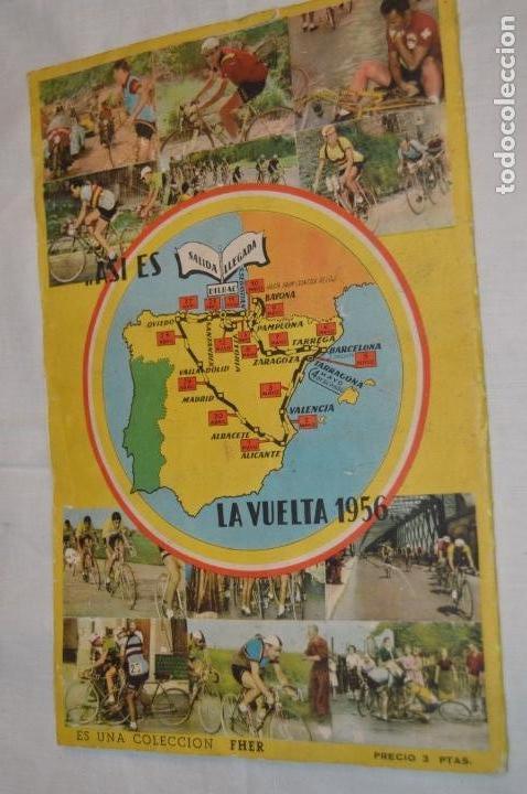Coleccionismo deportivo: ALBUM FHER - LA VUELTA Ciclista a España 1956 - AÑOS 50 - ¡COMPLETO! - Original VINTAGE - ¡Mira! - Foto 3 - 163785229