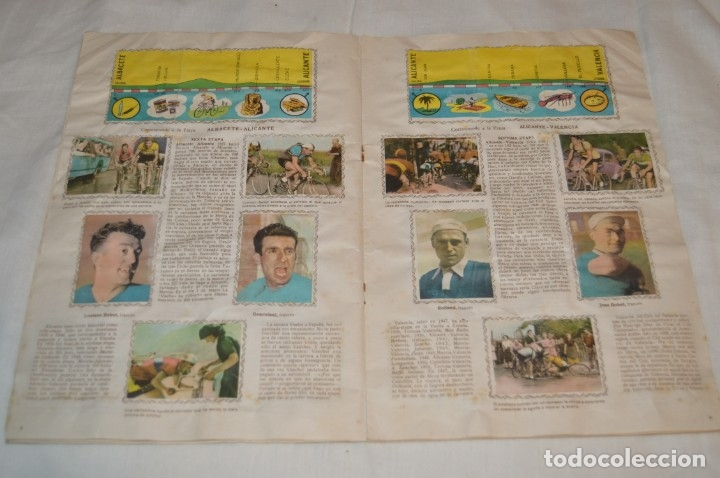 Coleccionismo deportivo: ALBUM FHER - LA VUELTA Ciclista a España 1956 - AÑOS 50 - ¡COMPLETO! - Original VINTAGE - ¡Mira! - Foto 12 - 163785229
