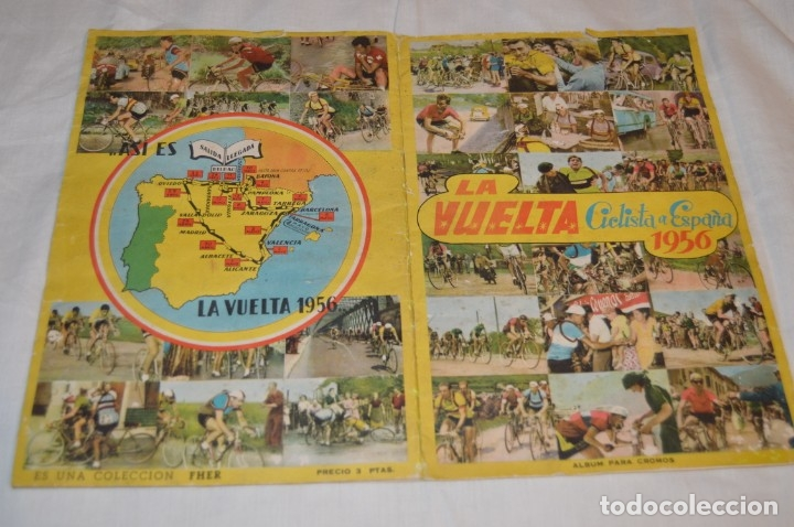 ALBUM FHER - LA VUELTA CICLISTA A ESPAÑA 1956 - AÑOS 50 - ¡COMPLETO! - ORIGINAL VINTAGE - ¡MIRA! (Coleccionismo Deportivo - Álbumes otros Deportes)