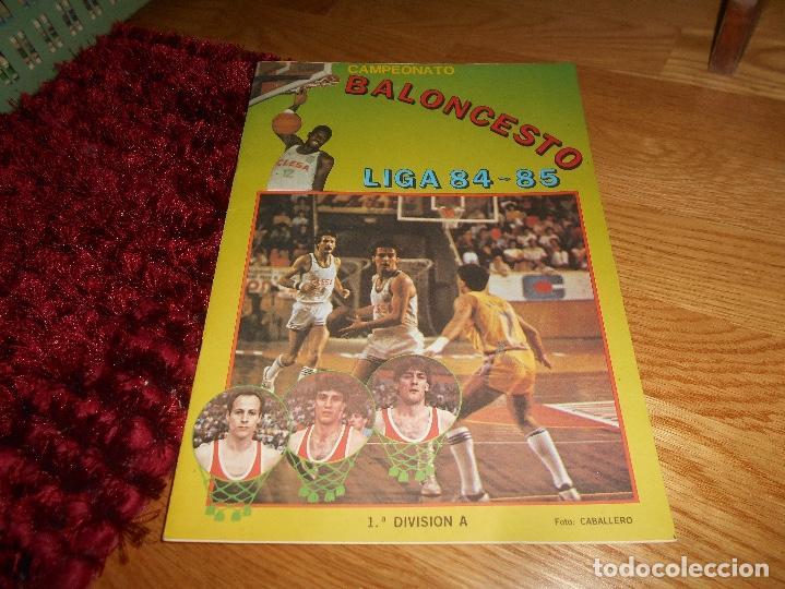 ÁLBUM CAMPEONATO BALONCESTO LIGA 84-85 ED. MERCHANTE 1984 VACIO (Coleccionismo Deportivo - Álbumes otros Deportes)