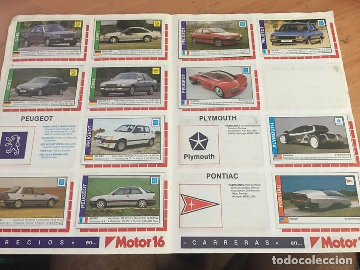 Coleccionismo deportivo: COCHES MOTOR 16 ALBUM COMPLETO . CUSCO ARTS GRAFIQUES (AB-1) - Foto 3 - 166802982