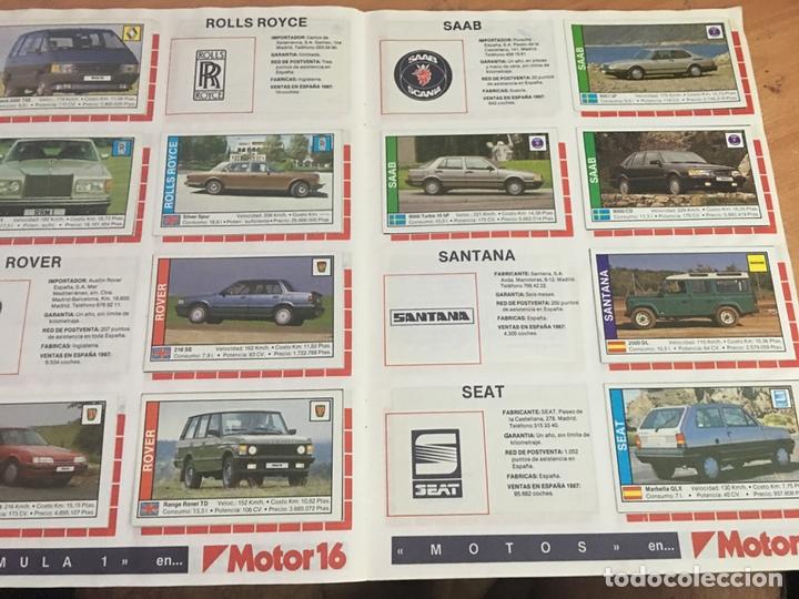 Coleccionismo deportivo: COCHES MOTOR 16 ALBUM COMPLETO . CUSCO ARTS GRAFIQUES (AB-1) - Foto 5 - 166802982