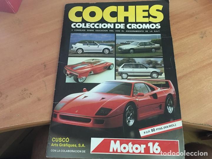 COCHES MOTOR 16 ALBUM COMPLETO . CUSCO ARTS GRAFIQUES (AB-1) (Coleccionismo Deportivo - Álbumes otros Deportes)