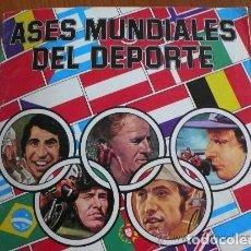 Coleccionismo deportivo: ASES MUNDIALES DEL DEPORTE, ALBUM VACIO Y CROMOS. Lote 167181112