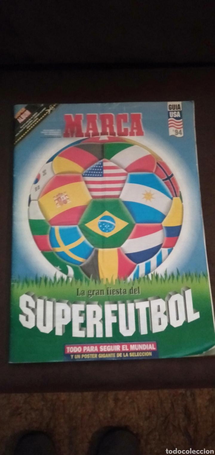 SUPER ÁLBUM GUIA MARCA USA 94 SUPERFUTBOL COMPLETO CON POSTER CENTRAL (Coleccionismo Deportivo - Álbumes otros Deportes)