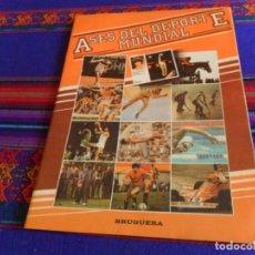 Coleccionismo deportivo: ASES DEL DEPORTE MUNDIAL INCOMPLETO CON 12 DE 96 CROMOS. BRUGUERA 1983. PUBLICIDAD SUBBUTEO. RARO.. Lote 170365384