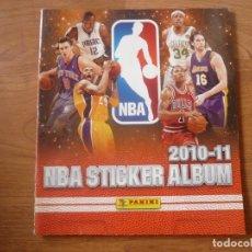 Coleccionismo deportivo: ALBUM BALONCESTO NBA 2010 2011 PANINI CON 154 CROMOS STICKERS - BASKET 10 11. Lote 172180835