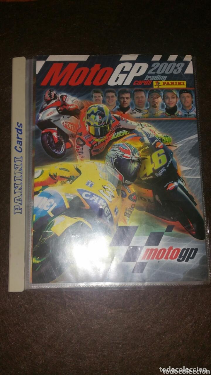 ÁLBUM MOTO GP 2003 . TRADING CARDS . PANINI. FALTAN SOLO 5 CARDS (Coleccionismo Deportivo - Álbumes otros Deportes)