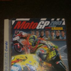 Coleccionismo deportivo: ÁLBUM MOTO GP 2003 . TRADING CARDS . PANINI. FALTAN SOLO 5 CARDS. Lote 173467533