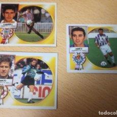Coleccionismo deportivo: 3 CROMOS EDITORIAL ESTE 94/95, COLOCA, BAJA, VERSIÓN. EMILIO, KARANKA Y PABLO. RECORTADOS.. Lote 175355879