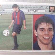 Coleccionismo deportivo: EDICIONES ESTE 2001 2002 SAVIOLA FC BARCELONA NUEVO DE SOBRE. Lote 223981622