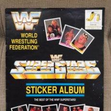 Coleccionismo deportivo: ALBUM CROMOS COMPLETO WORLD WRESTLING FEDERATION WF SUPERSTARS. Lote 180222577