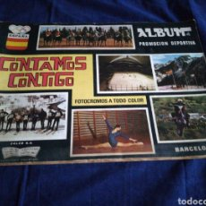 Coleccionismo deportivo: ALBUM COMPLETO CONTAMOS CONTIGO. Lote 182775760
