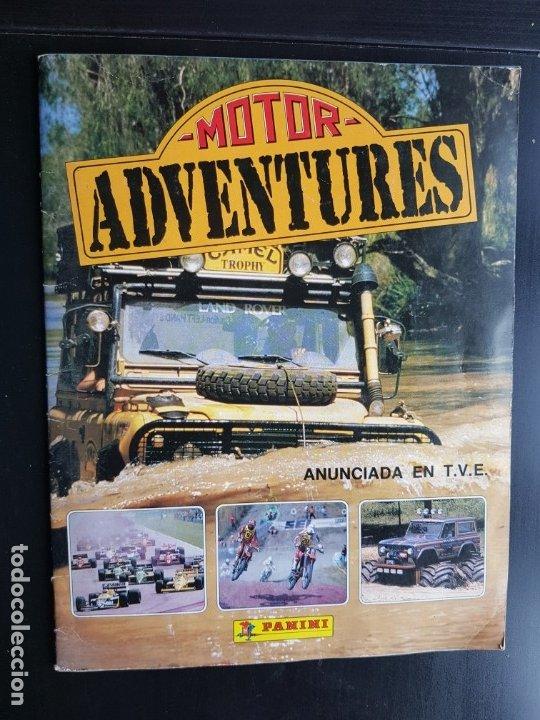 ÁLBUM CROMOS MOTOR ADVENTURES 100% COMPLETO PANINI 1987 MOTOS FÓRMULA 1 RALLYES (Coleccionismo Deportivo - Álbumes otros Deportes)