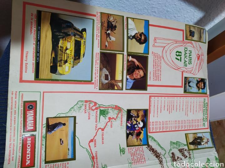 Coleccionismo deportivo: carpeta album paris dakar tele indiscreta completa a falta de un cromo - Foto 4 - 183649098