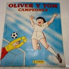 Coleccionismo deportivo: ALBUM INCOMPLETO DE PANINI - OLIVER Y TOM CAMPEONES - CON 147 CROMOS PEGADOS DE 240 - BIEN. Lote 183801330